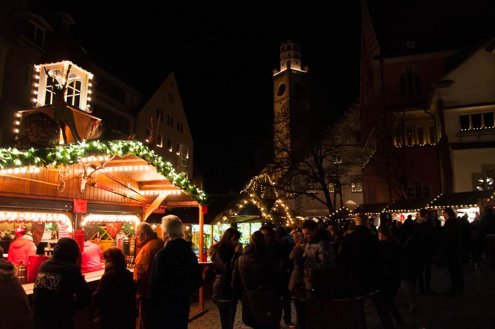 главная рождественская площадь в Равенсбурге