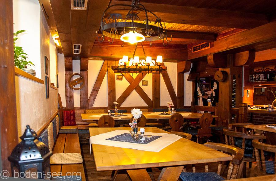 главный зал в ресторане Lochmühle в Ульме