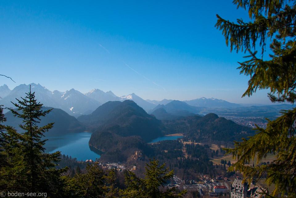 Баварские Альпы. Озеро Альпзее и озеро Шванзее