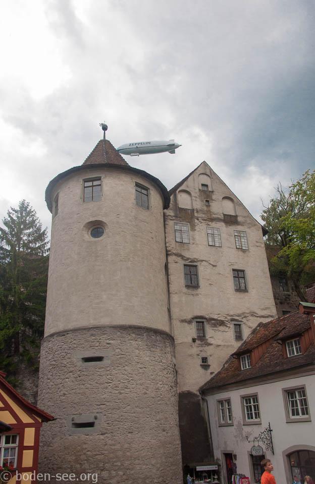 Башня старого замка в Меерсбурге