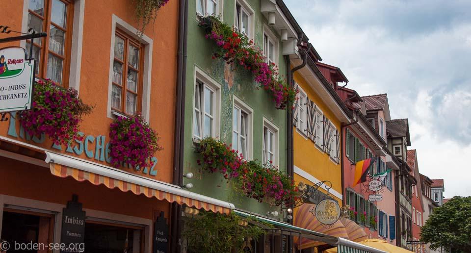 Разноцветные фасады домов