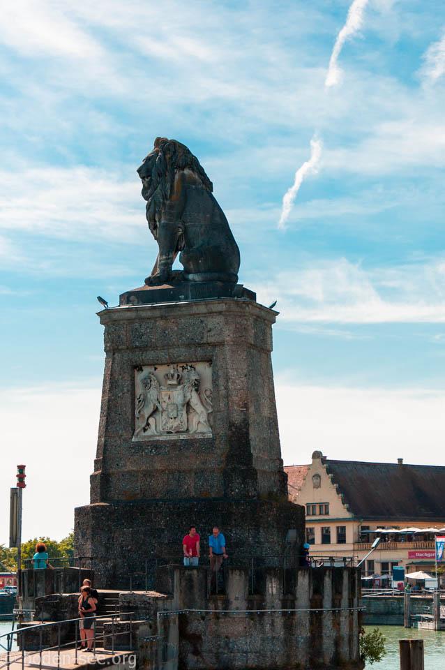 скульптура баварского льва в линдау