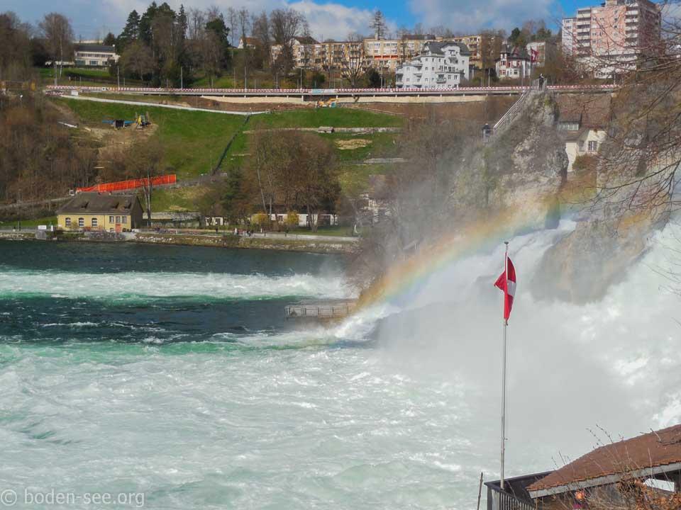 радуга над Рейнским водопадом
