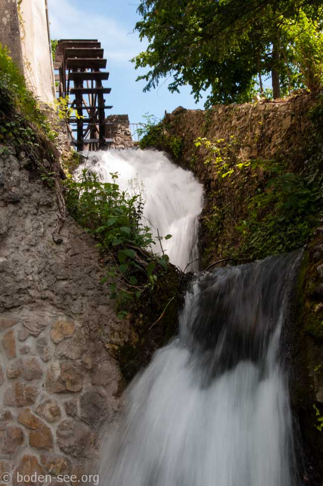 мельница на берегу Рейнского водопада