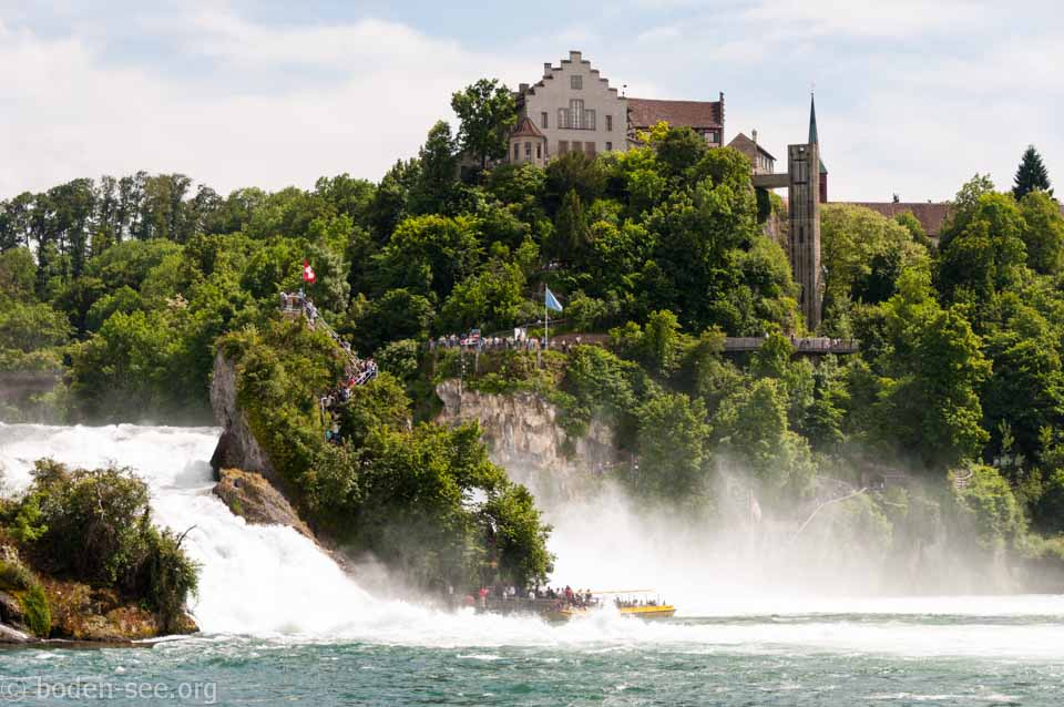 прогулка на корабле к Рейнскому водопаду