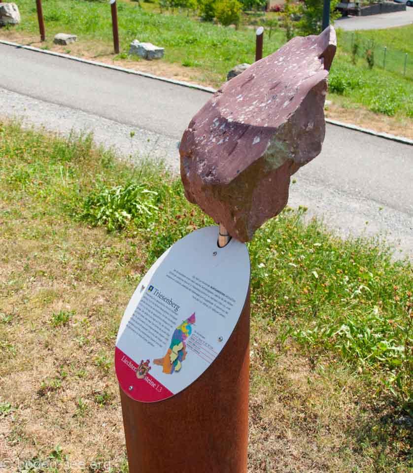 информационный стенд о камнях, Лихтенштейн
