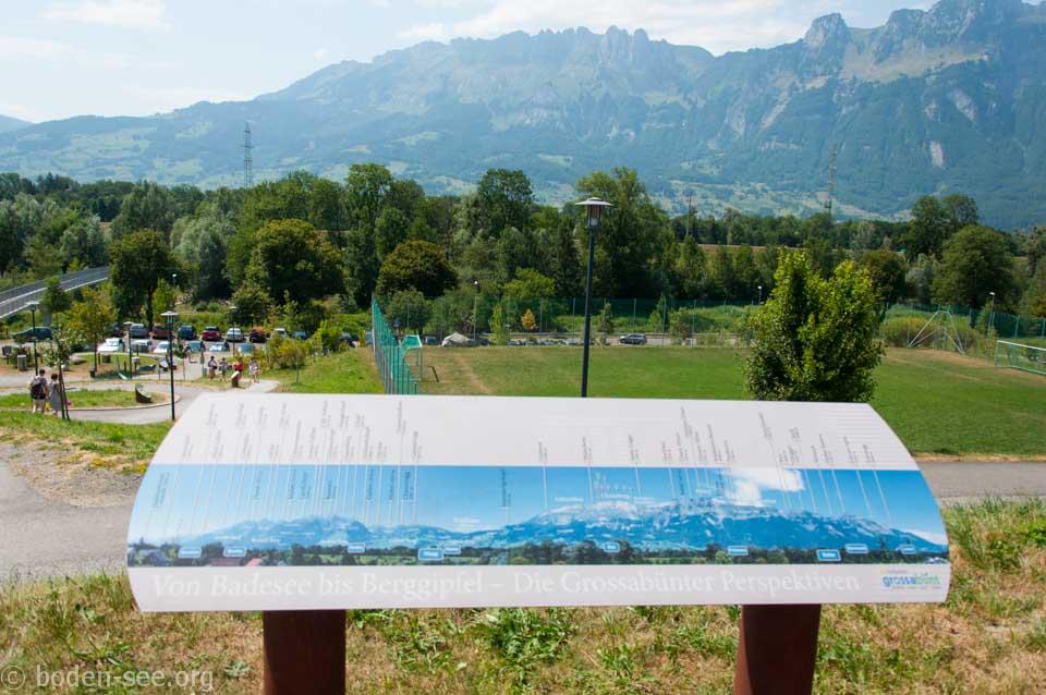 информационный стенд об Альпах, Лихтенштейн