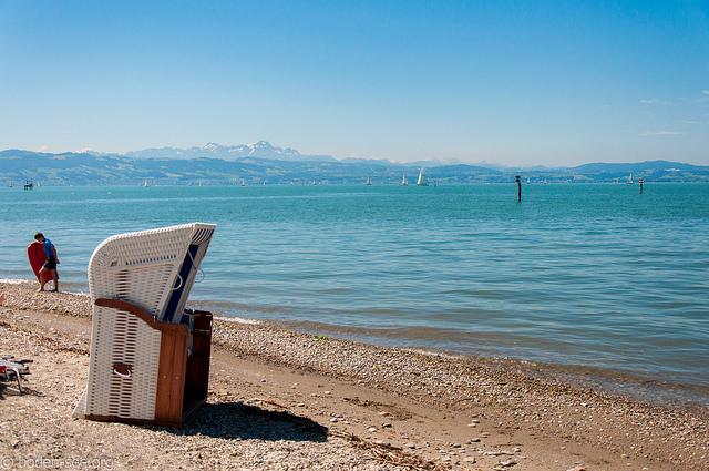 Пляж в Лангенаргене. Боденское озеро.