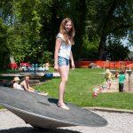 На детской площадке, Арбон, Швейцария